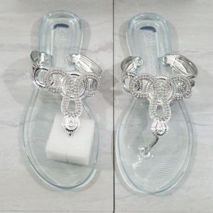 Women Bling Bling Clear jelly Sandals size 9